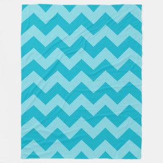 Customizable Monochromatic Chevron Fleece Blanket