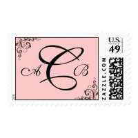 Customizable Monogram : 3 letters : Postage