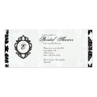 Customizable Monogram Bridal Shower Invitatation Card