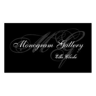 Customizable Monogram Business Card