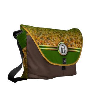 Customizable Monogram: Fall Leaves Messenger Bag