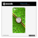 Customizable Monogram: Fall Leaves Skin For The iPhone 4