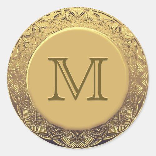 Customizable Monogram Gold Seal