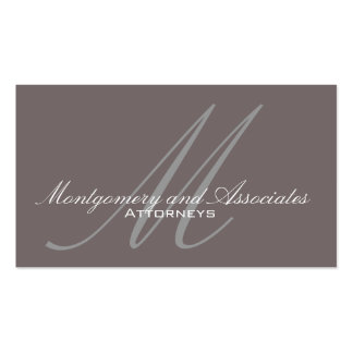 Customizable Monogram Lawyer Business Cards