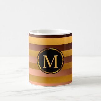 Customizable monogram Mug, striking gold, bronze Coffee Mug