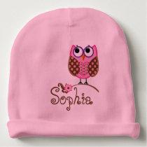 CUSTOMIZABLE Monogram/Owl BABY HAT