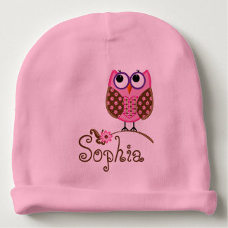 CUSTOMIZABLE Monogram/Owl BABY HAT