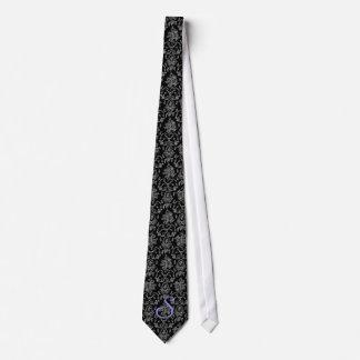 customizable monogram patterned tie