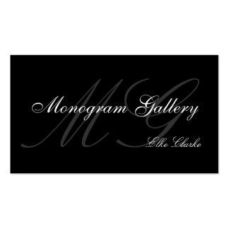 Customizable Monogram Plain Business Card