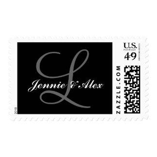 Customizable Monogram Postage Stamps