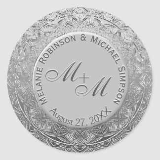 Customizable Monogram Silver Wedding Seal