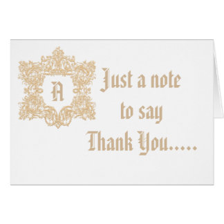 Customizable Monogram Thank You Card