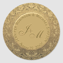 Customizable Monogram Wedding Seal