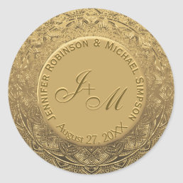 Customizable Monogram Wedding Seal