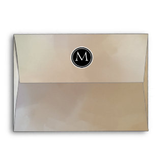 Customizable Monogram with Abstract Background Envelope