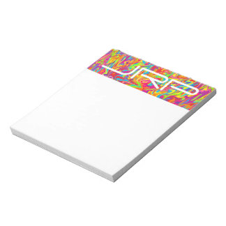 Customizable Monogrammed Abstract Swirl Notepad