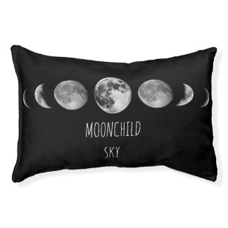 Customizable Moonchild * Moon Phases Pet Bed