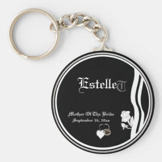 Customizable Mother Of The Bride Keepsake Keychain