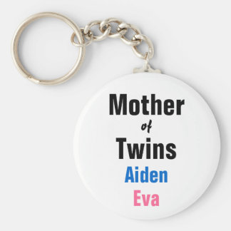 Customizable Mother of Twins Keychain