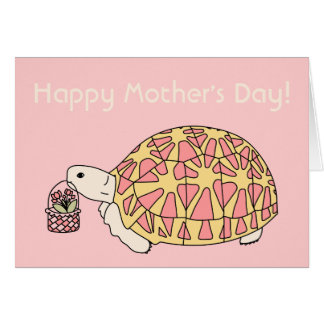 Customizable Mother's Day Star Tortoise Card 4