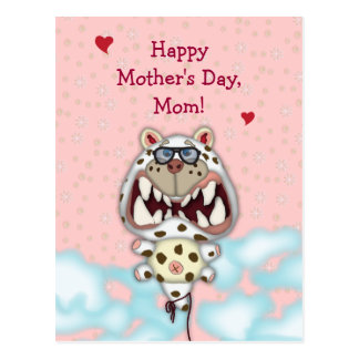 Customizable Mother's Day Card Funny Cat Balloon