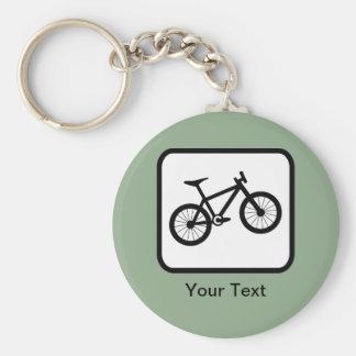 Customizable Mountain Biker Logo Basic Round Button Keychain