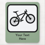 Customizable Mountain Biker Logo Mouse Pad