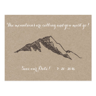 Customizable Mountain Save the Date Postcard