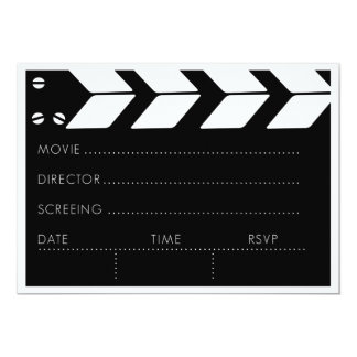 Customizable Movie Night 5x7 Paper Invitation Card