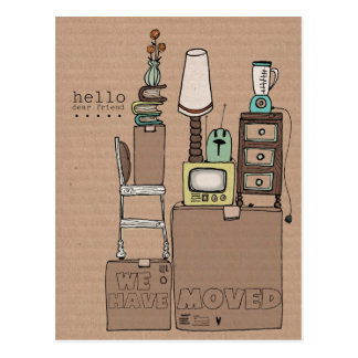 customizable moving postcard