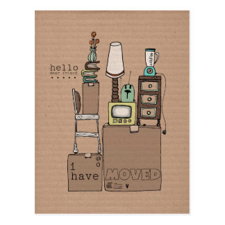 customizable moving postcard-i have moved postcard