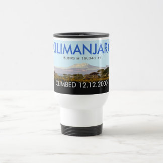 Customizable Mt Kilimanjaro Climb Commemorative Travel Mug