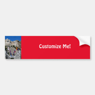 Customizable Mt Rushmore Souvenir Bumper Sticker