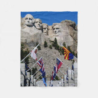 Customizable Mt Rushmore Souvenir Fleece Blanket