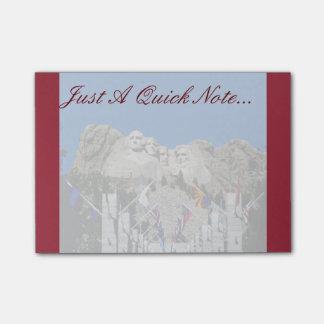 Customizable Mt Rushmore Souvenir Post-it Notes