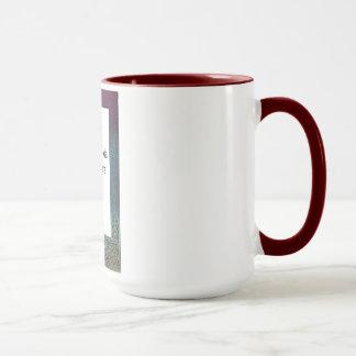 Customizable Mug with Colorful Ornate Frame