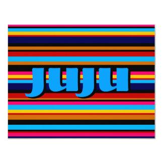 Customizable Multicolor Stripe 4.25x5.5 Paper Invitation Card