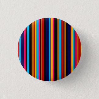 Customizable Multicolor Stripe Pinback Button