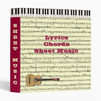 (Customizable) Music Binder