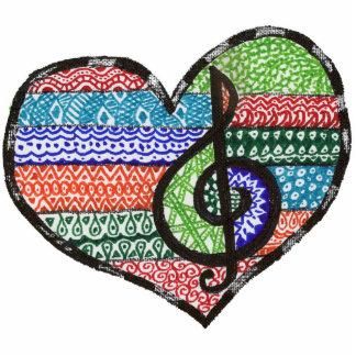 Customizable Music Heart Treble Clef Doodle Statuette