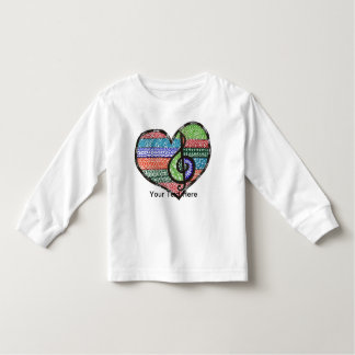 Customizable Music Heart Treble Clef Doodle T Shirts