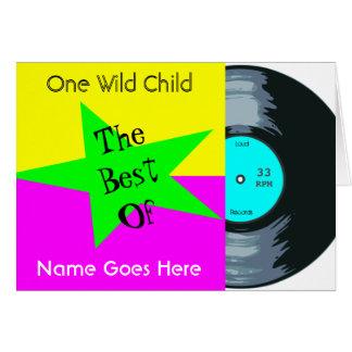 Customizable Music Lover's Vinyl Record Birthday Card