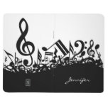 Customizable Musical Notes Journal