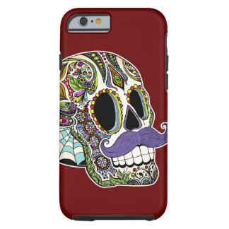 Customizable Mustache Sugar Skull Phone Case Tough iPhone 6 Case