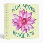 """Customizable """"Nam Myoho Renge Kyo"""" Buddhism Binder"""