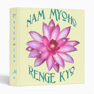 "Customizable ""Nam Myoho Renge Kyo"" Buddhism Binder"