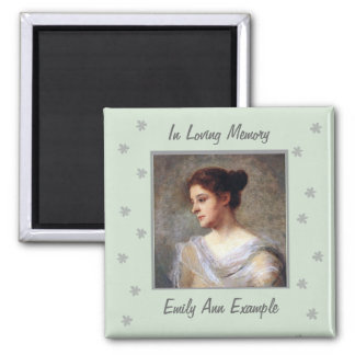 Customizable Name and Photo Remembrance Magnet