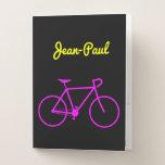 [ Thumbnail: Customizable Name + Bicycle Silhouette Pocket Folder ]