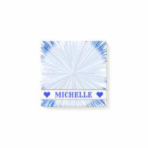 Customizable Name - Blue Line Burst Pattern Notes