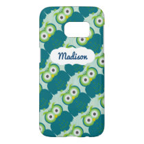 Customizable Name Cute Turquoise Owl SG7 Case